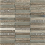"Cordoba Grey Linear Mosaic 0.6X4 (12"" X 12"" Sheet)Suwanee, Atlanta, Johns Creek, Buford, Duluth, Gwinnett, Alpharetta, Lilburn, Roswell,Flooring, Tile, Wood, Porcelain Tile, Ceramic Tile, Mosaic Tile, Mosaic, installation product sale, happy floors, happy"