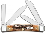 CASE CUTLERY CONGRESS POCKET KNIFE BONE STAG