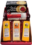 Wisconsin Cheese, Sausage & Cracker Gift Basket