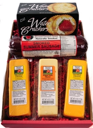 Wisconsin Cheese Sausage And Cracker Gift Box