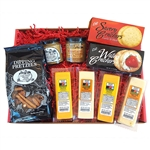 Gourmet WI Cheese, Cracker, Pretzel and Mustard Gift Box