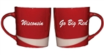 Go Big Red/Wisconsin Red Mug With White