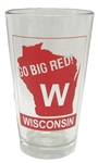 Wisconsin Clear Pint Glass =Set of 2