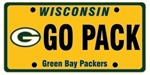 """GO PACK"" Green Bay Packers License Plate Lapel Pin"