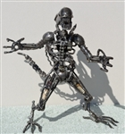 Alien Sculpture, Scrap Metal Art