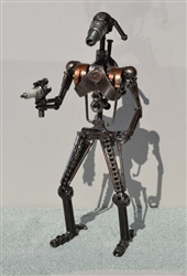 Battle Droid Sculpture, Scrap Metal Art