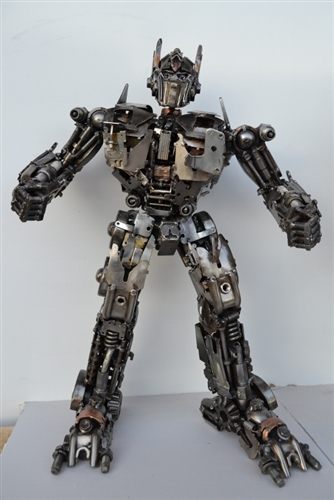 Transformer BumbleBee Sculpture Hand Made From Recycled