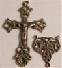 Delicate Two Sided Crucifix & Center Rosary Parts Set