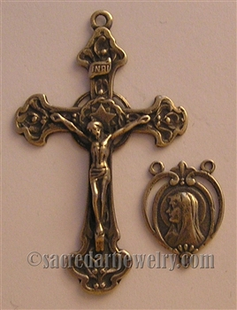 Star Halo Crucifix, Our Lady of Lourdes Center Set