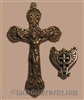 Scroll Pattern Crucifix & Center Set