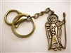 Catholic Gift: Religious Keychain, St Michael Archangel Medal, Brass Key Ring & Lobster Clasp with Gift Box