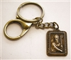 Catholic Gift: Religious Keychain, St Patrick Medal, Brass Key Ring & Lobster Clasp with Gift Box