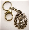 Keychain with Our Lady of Guadalupe Medallion, Brass Key Ring & Lobster Clasp