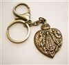 Catholic Gift: Religious Keychain, Our Lady of Lujan Medal, Brass Key Ring & Lobster Clasp with Gift Box