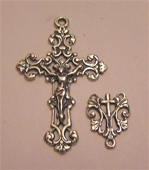 Beautiful Minimalist Delicate French Crucifix & Center
