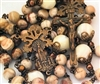 Fatima Snowflake Handmade Bronze Rosary in Mexican Lace Agate and Mother of Pearl