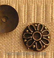 Slightly Domed Flower Bead Cap 7mm
