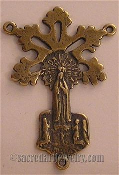 Our Lady of Fatima Radiant Medal 1 1/4""