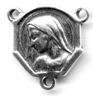 Madonna Shaped Rosary Center 5/8""