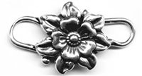 Clasp, double flower 3/4""
