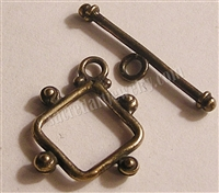 1Clasp, Toggle, Diamond 3/4""