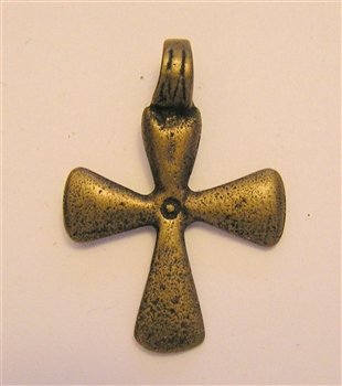 Cross, Medium African. Available in sterling and bronze. 1 3/8""