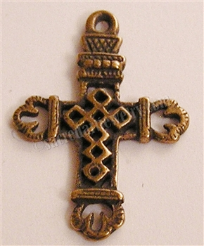 "658 - Cross, Diamond Openwork - 1 1/4"" - Available in Silver or Bronze"