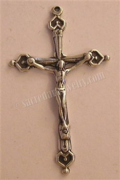 4 Small Hearts Crucifix 1 3/4""