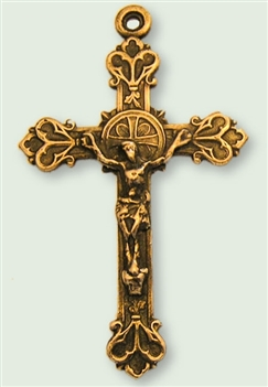 Budded Hearts Crucifix 2""