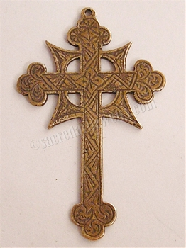 874 - Cross, Etched Celtic 19C. Two Sided - 2""