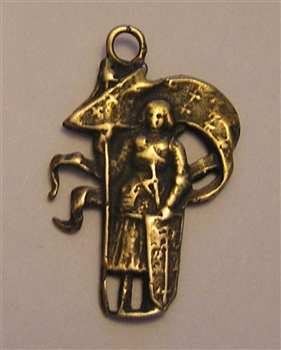 St Joan of Arc with Banner Figural Medal