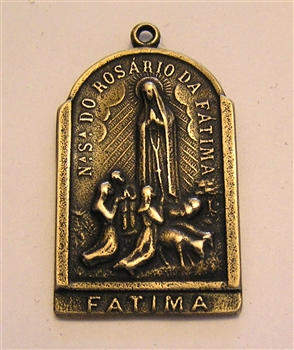 Our Lady of Fatima, Saint Christopher Medal 1 1/2""