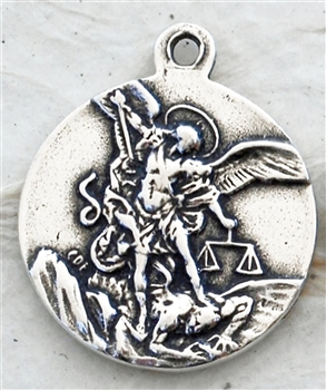 MEDAL, St. Michael fighting the Devil/ Prayer, Italy