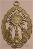 Monstrance with Angels (Corte de Amor) Medal 2 3/8""