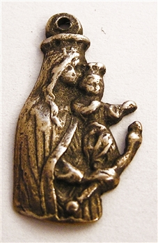 Virgin Mary with Baby Jesus Figural Medal 1""