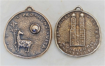 MEDAL, Agnus Dei, Bavaria 1960, For the Life of the World, Pro Mundi Vita 1 1/4″