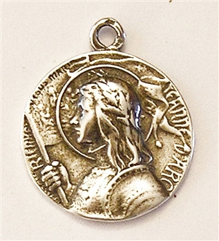 White Bronze Joan of Arc France Medal 1""