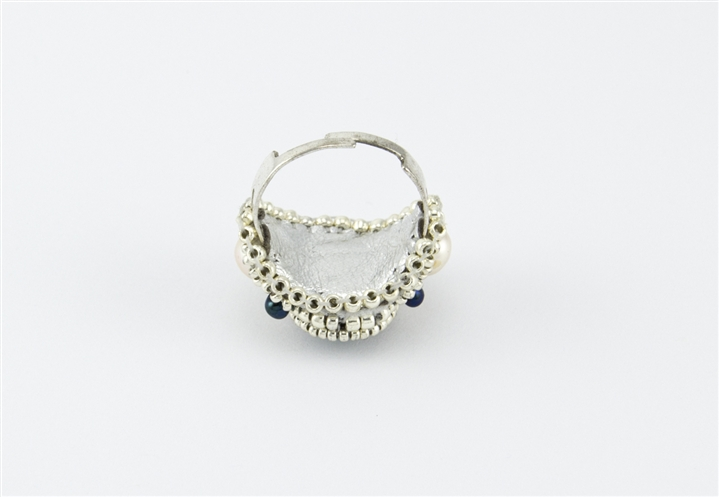 Limited edition bead embroidery ring kit moonlight