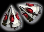 gatling front axle cover chrome-red