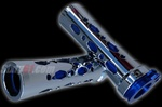 sixty61 grips chrome/blue rounded diamond cut-out
