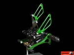 green adjustable aluminum rearsets Suzuki GSXR 600 750