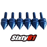 sixty61 spiked windscreen bolts blue