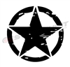 Distressed Army Star Vinyl Decal