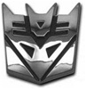 "Chrome Transformers ""Decepticon"" Emblem"