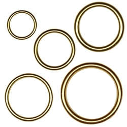 Solid Brass O-Rings