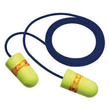 3M 3MR311-4109 Universal Single Use E-A-Rsoft SuperFit Tapered Polyurethane Foam Corded Earplugs With Metal Detectable Cord