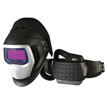 "3M 3MR35-1101-20SW Adflo Belt-Mounted Universal Lithium Ion High Efficiency PAPR System With Speedglas 9100-Air Welding Helmet And 5, 8 - 13 Shade 2.1"" X 4.2"" Speedglas 9100XX Auto Darkening Filter"