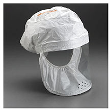 3M Replacement White Tyvek QC Large Head Cover 522-02-01R03