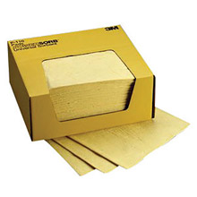 "3M 3MRP-110 11"" X 13"" Yellow Polypropylene And Polyester Sorbent Pad"