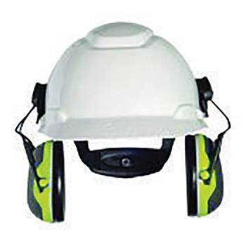 3M 3MRX4P3E Peltor Black And Chartreuse Model X4P3E/37278(AAD) Cap Mount Hearing Conservation Earmuffs